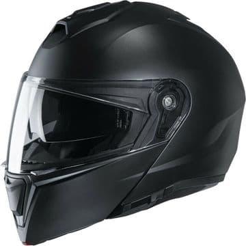 HJC I90 Matt Black Flip Modular Motorcycle Motorbike Helmet - Smart HJC Ready